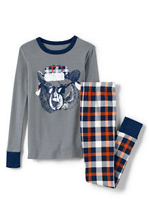 Boys' Print Snug-fit Cotton Pyjama Set