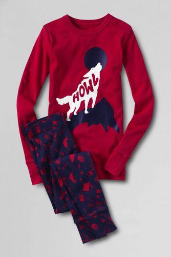 Boys' Print Snug-fit Cotton Pyjamas