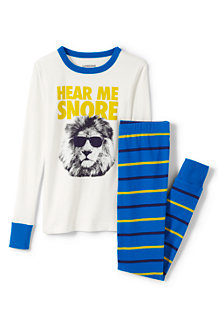Boys' Print Snug-fit Cotton Pyjamas