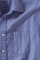Men's Short Sleeve Striped Poplin Shirt