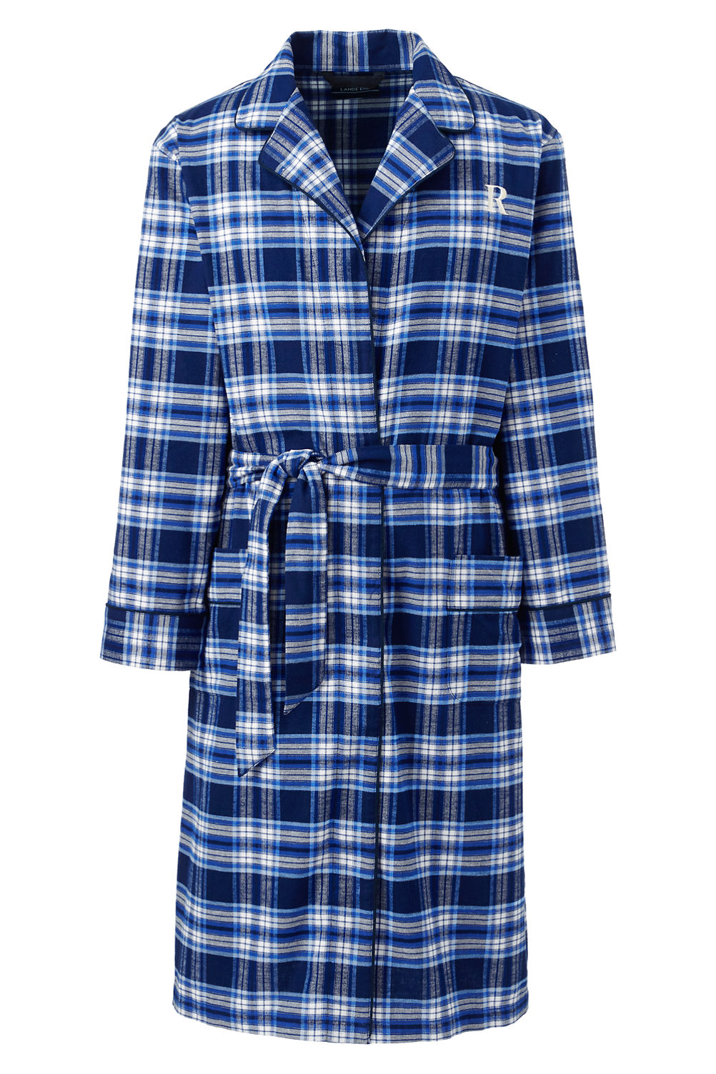 Men\'s Flannel Robe from Lands\' End