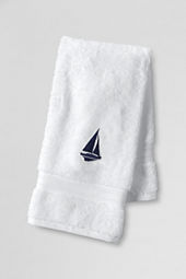 Supima Embroidered Sailboat Hand & Bath Towels