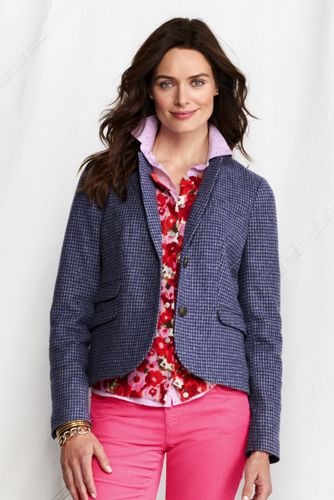 Women's Regular Classic Wool Cropped Jacket
