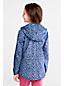 Gemusterte Regenjacke mit Packfach für kleine Mädchen
