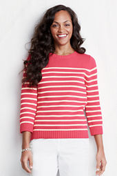 Women's 3/4-sleeve Drifter Stripe Jersey Crew Sweater