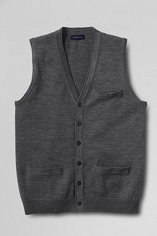 Merino Sweater Vest 434707: Charcoal Heather