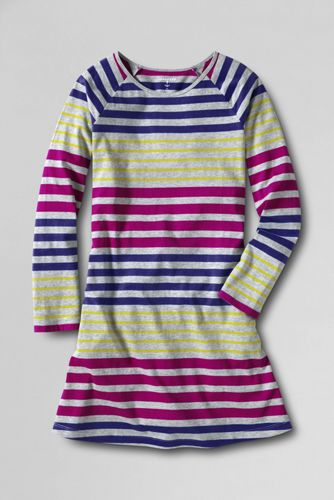 Little Girls' Long Sleeve A-line Jersey Dress