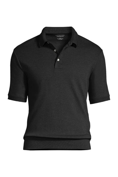 Men's Short Sleeve Banded Bottom Supima Polo Shirt