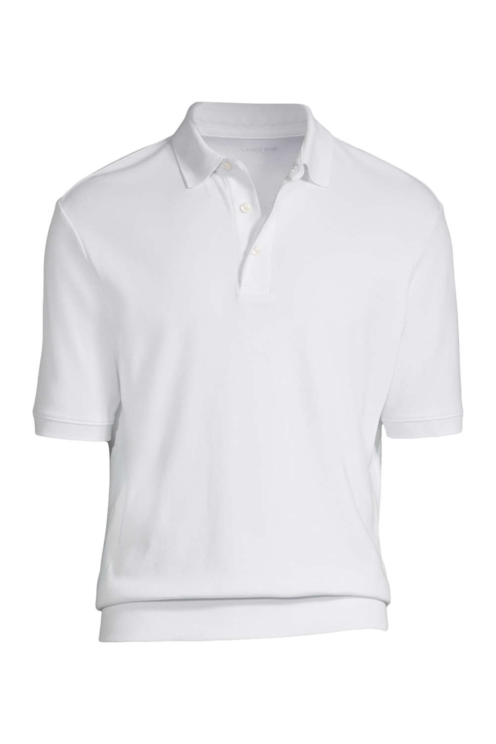 c1f8370dffd Men's Short Sleeve Banded Bottom Supima Polo Shirt from Lands' End