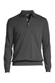 Men's Supima Long Sleeve Banded Bottom Polo Shirt