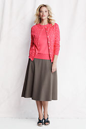 Women's Knit A-line Midcalf Skirt
