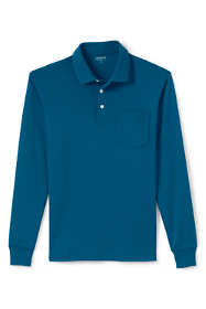 Men's Supima Long Sleeve Polo Shirt with Pocket