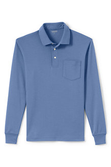 Men's Long Sleeve Supima® Polo with pocket