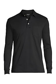 4117a007b70 Men s Supima Long Sleeve Polo Shirt with Pocket