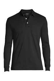 Men's Tall Long Sleeve Supima Polo Shirt with Pocket