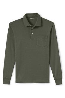 Men's Long Sleeve Supima Polo Shirt with Pocket
