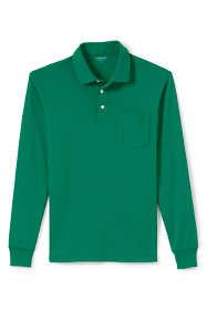 Men's Supima Long Sleeve Polo Shirt with Pocket