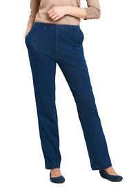 Women's Tall Sport Knit Elastic Waist Pants High Rise Denim