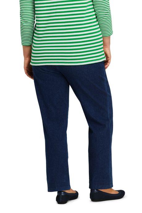 d605b3eb63bd3 ... Women s Plus Size Petite Sport Knit Elastic Waist Pants High Rise Denim