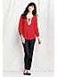 Georgette-Bluse mit gesmokten Schultern für Damen in Petite-Größe
