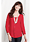 Georgette-Bluse mit gesmokten Schultern für Damen