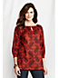 Women's Petite Three-quarter sleeve Paisley Ballet Tunic