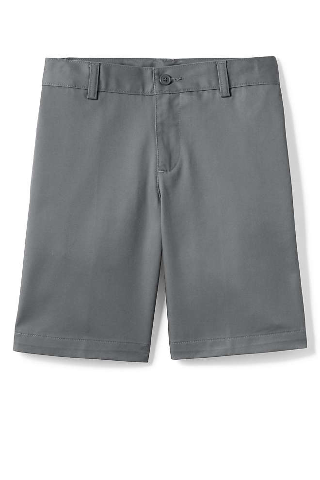 Boys Plain Front Blend Chino Shorts, Front