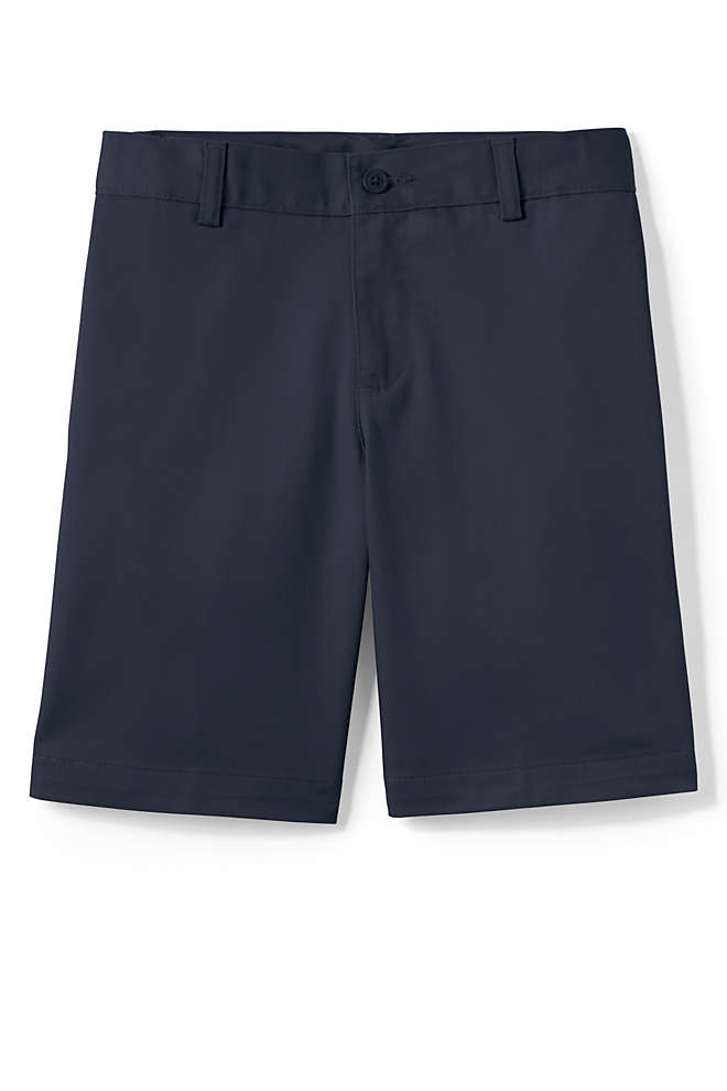 School Uniform Boys Plain Front Blend Chino Shorts, Front