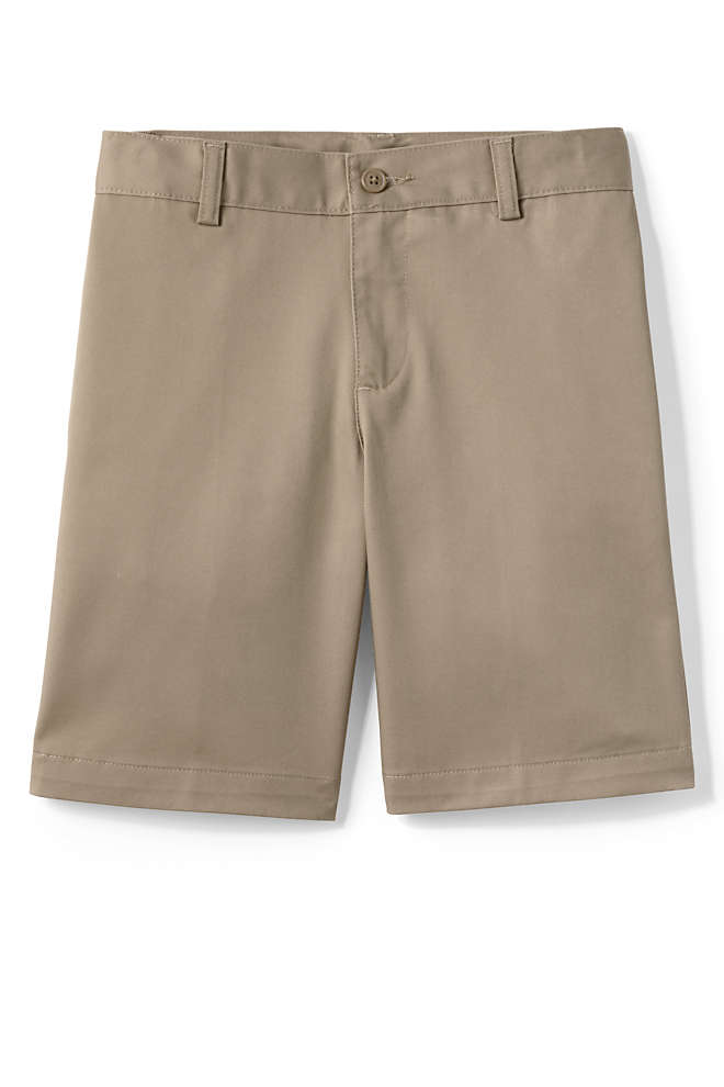 Toddler Boys Plain Front Blend Chino Shorts, Front