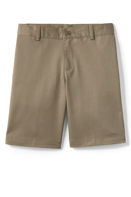 Boys Plain Front Blend Chino Shorts