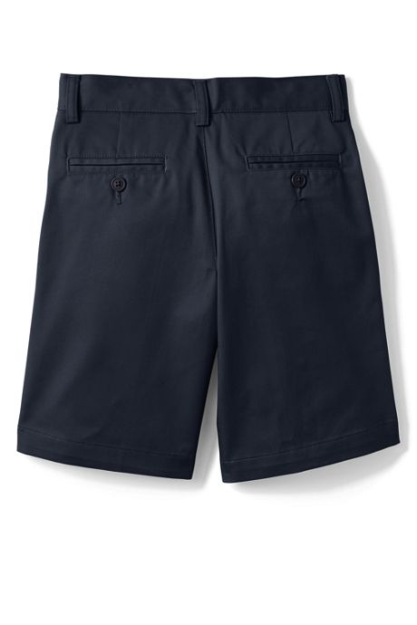 School Uniform Little Boys Plain Front Blend Chino Shorts