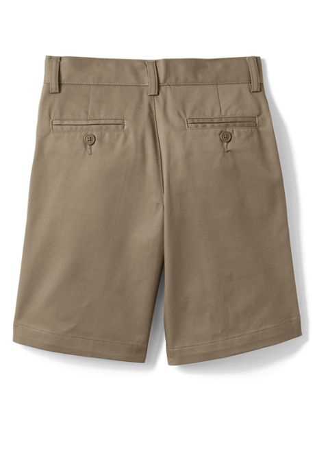 School Uniform Boys Plain Front Blend Chino Shorts