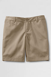School Uniform Plain Front Blend Chino Shorts