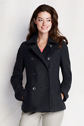 Women's Boiled Wool Pea Coat