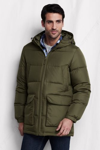 Lands' End Germany Daunenparka für Herren - Matt Oliv - 48-50 von Lands' End