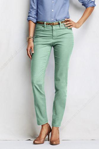 Knöchellange Twillhose im 5-Pocket-Stil für Damen