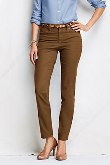 Women's Coloured Slim Ankle-Length Twill Jeans