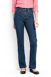 Women's Medium Indigo Wash High Rise Straight Leg Jeans