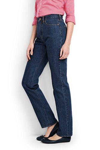 Bequeme Medium Rinse Straight Jeans für Damen   Lands  End 4cedd838f8