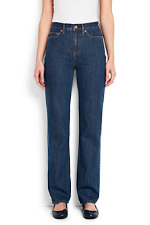Women's  Medium Indigo Wash High Rise Straight Leg Jeans