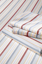 200-count Percale Print Multi Stripe Bedding