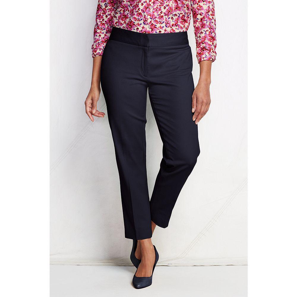 Lands' End Women's Plus Size Fit 2 Portico Bi-Stretch Slim Ankle Pants