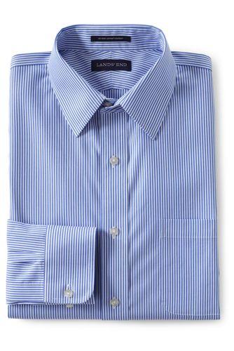 SLIM FIT. Klassik-Kragen. Gemustertes bügelleichtes Pinpointhemd