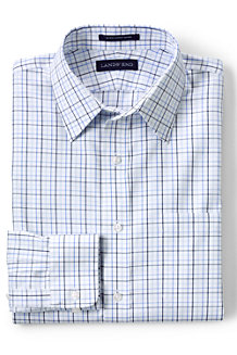 Men's Patterned Slim Fit Easy-iron Straight Collar Pinpoint Shirt