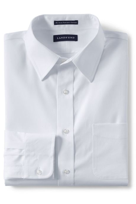 Men's Slim Solid No Iron Pinpoint Straight Collar Shirt