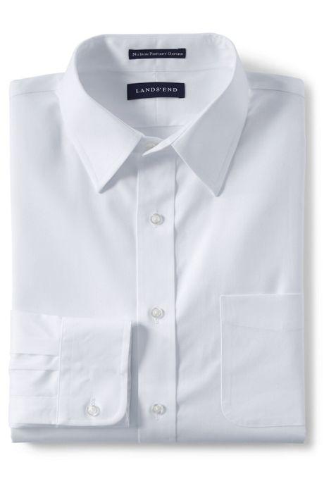 Men's Slim Fit No Iron Supima Pinpoint Straight Collar Shirt