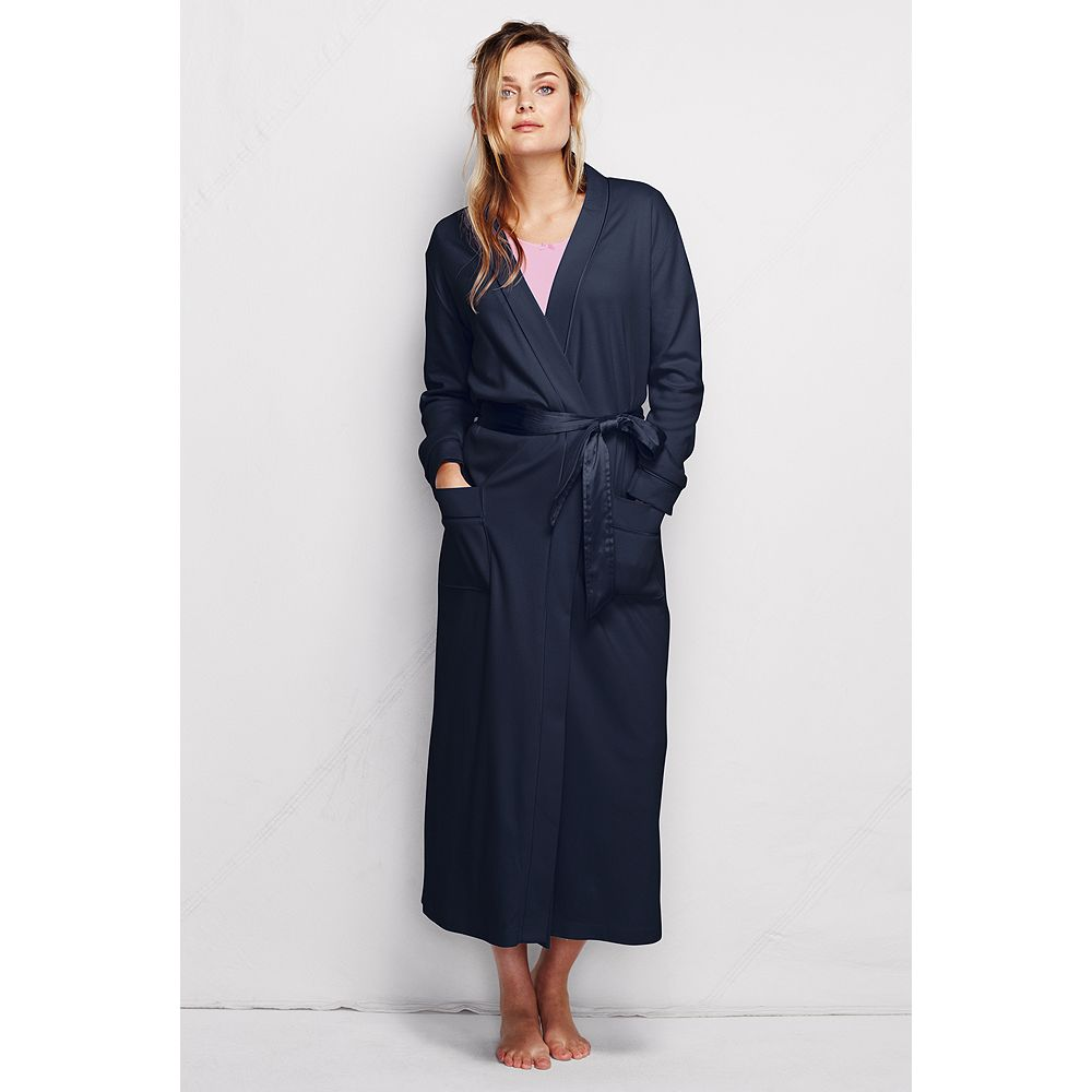 Lands' End Women's Regular Long Sleeve Cotton Sleep-T Robe at Sears.com