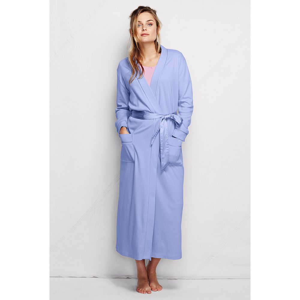 Lands' End Women's Petite Long Sleeve Cotton Sleep-T Robe at Sears.com