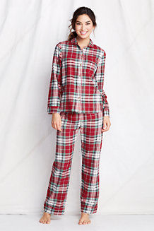 Women's Patterned Flannel PJ Top