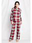 Women's Plus Patterned Flannel PJ Top